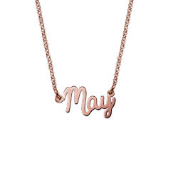 Petit collier prénom en plaqué or rose photo du produit