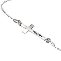 Collier Croix Personnalisée en Argent 925 photo du produit