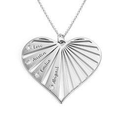 Collier de famille avec diamants en Argent product photo