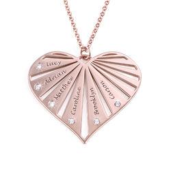 Collier de famille avec diamants en Plaqué Or Rose 18ct product photo