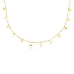 Collier Star Ras de Cou en plaqué or 18 carats photo du produit