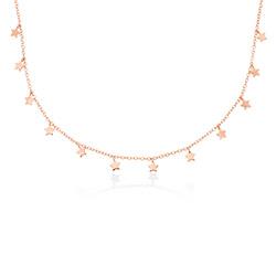 Collier Star Ras de Cou en plaqué or rose 18 carats photo du produit