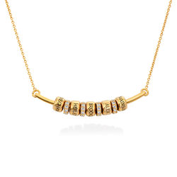Collier Smile Bar avec Perles Personnalisées en Plaqué Or 18ct photo du produit