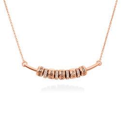 Collier Smile Bar avec Perles Personnalisées en Plaqué Or Rose 18ct photo du produit