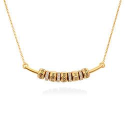 Collier Smile Bar avec Perles Personnalisées en Or Vermeil photo du produit