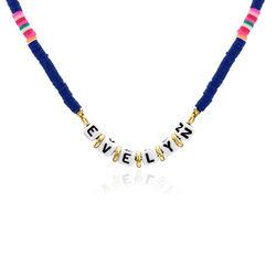 Collier de perles Royal Berry avec nom en plaqué or photo du produit
