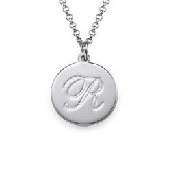 Collier pendentif Initiale style Script en argent photo du produit