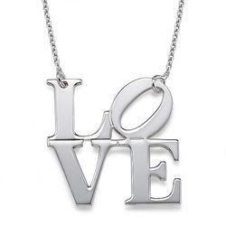 Collier Love en argent 925 photo du produit