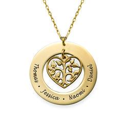 Collier arbre de vie en cœur en or 10 cts photo du produit