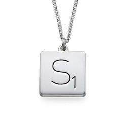 Collier Scrabble avec Initiale en Argent photo du produit