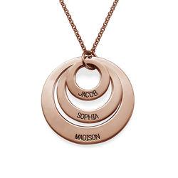 Bijoux pour maman - Colliers 3 disques en plaqué or rose photo du produit