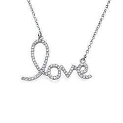Collier Cubique Zirconium pendentif LOVE product photo