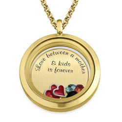 Médaillon Flottant J'aime Mes Enfants – Plaqué Or photo du produit