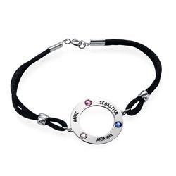 Bracelet Cercle Personnalisé avec Pierres de Naissance photo du produit