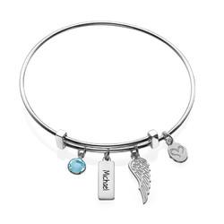 Bracelet Jonc « Aile d'Ange » photo du produit