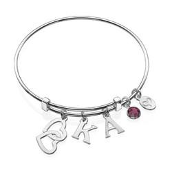 Bracelet Jonc « Cœurs Croisés » photo du produit