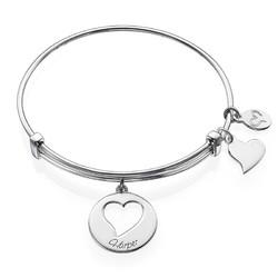 """Bracelet Jonc avec Charm """"Coeur"""" photo du produit"""