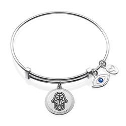 Bracelet Jonc avec pendentif Main de Fatma photo du produit