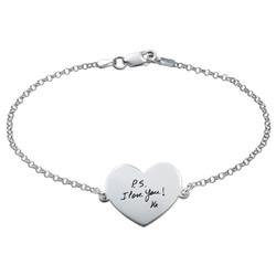 Bracelet Gravé à la main en forme de Cœur photo du produit