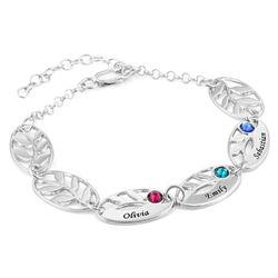 Bracelet de famille pour Maman Feuilles à graver photo du produit