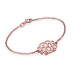 Bracelet Arabesque Personnalisé Plaqué Or Rose photo du produit