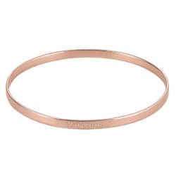 Bracelet Jonc Daté en Plaqué Or Rose 18 Carats photo du produit