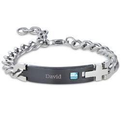Bracelet d'identification pour homme en acier inoxydable photo du produit