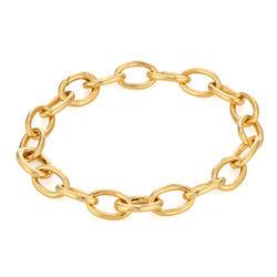 Bracelet Chaîne à Gros Maillons en Plaqué Or 18cts photo du produit