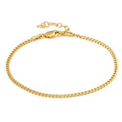 Bracelet Cubain Délicat en Plaqué Or 18cts photo du produit
