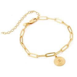 Bracelet Odeion chaîne avec Initiale en Or Vermeil photo du produit