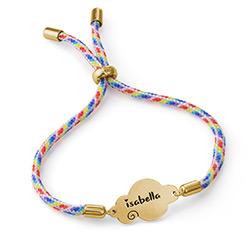 Bracelet cordon nuage en plaqué or photo du produit