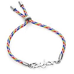 Bracelet prénom pour enfant en argent sterling photo du produit
