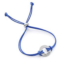 Bracelet cordon ID pour enfants en argent sterling photo du produit