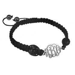 Bracelet Monogramme Cordon Personnalisé photo du produit