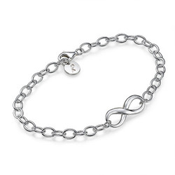 Bracelet Infini en Argent 925 photo du produit