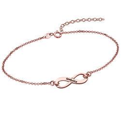 Bracelet Infini en Plaqué or Rose à Graver photo du produit