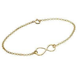 Bracelet Infini en plaqué or photo du produit
