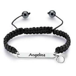 Bracelet d'amitié avec plaque à personnaliser photo du produit