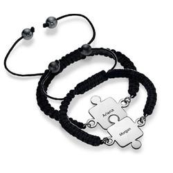 Bracelet Puzzle Meilleurs Amis en Argent photo du produit