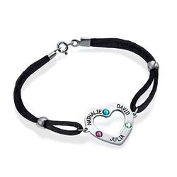 Bracelet cœur avec pierres de naissance photo du produit