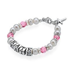 Bracelet personnalisé pour Bébé en Argent photo du produit