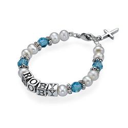 Bracelet pour Bébé avec prénom personnalisé photo du produit