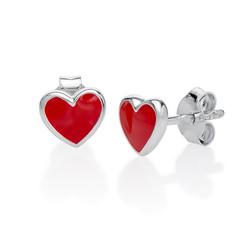Boucles d'Oreilles Cœurs Rose photo du produit