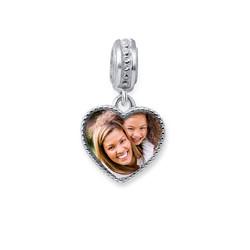 Charm en cœur avec photo photo du produit