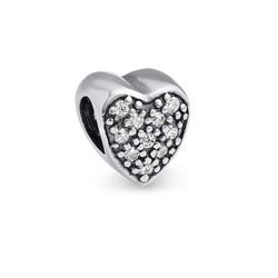 Charm en Forme de Coeur avec Zircons photo du produit