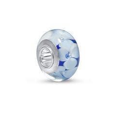 Charm Fleurs en Bleu et Blanc photo du produit