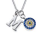 Amulette contre le Mauvais Œil avec pendentif Initial