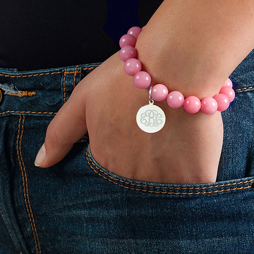 Bracelet de Perles Monogramme - 2
