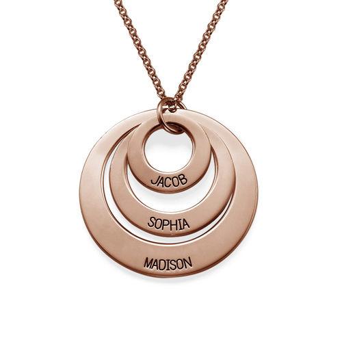 Bijoux pour maman - Colliers 3 disques en plaqué or rose