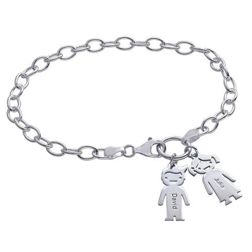 Bracelet avec breloques prenom